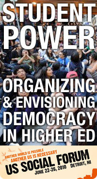 Student Power: Organizing and Envisioning Democracy in Higher Ed